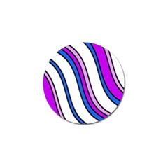 Purple Lines Golf Ball Marker (4 pack)