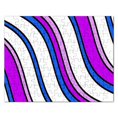 Purple Lines Rectangular Jigsaw Puzzl