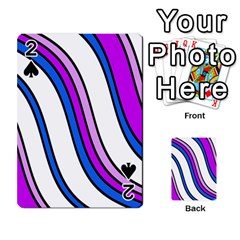 Purple Lines Playing Cards 54 Designs