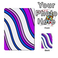 Purple Lines Multi Purpose Cards (rectangle)