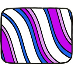 Purple Lines Fleece Blanket (Mini)