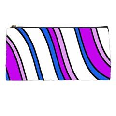 Purple Lines Pencil Cases