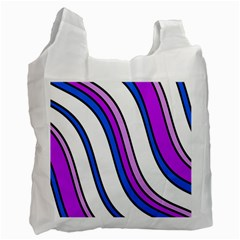 Purple Lines Recycle Bag (Two Side)