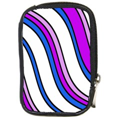 Purple Lines Compact Camera Cases