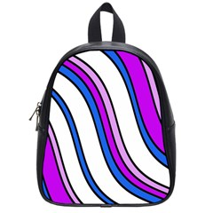 Purple Lines School Bags (Small)