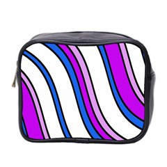 Purple Lines Mini Toiletries Bag 2-Side