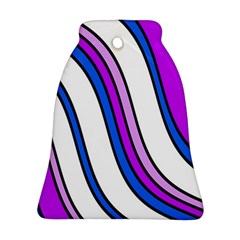 Purple Lines Bell Ornament (2 Sides)
