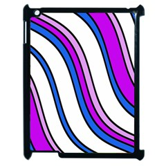 Purple Lines Apple iPad 2 Case (Black)