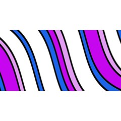 Purple Lines YOU ARE INVITED 3D Greeting Card (8x4)