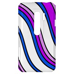 Purple Lines HTC Evo 3D Hardshell Case