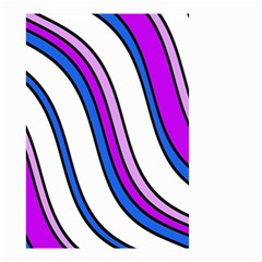 Purple Lines Small Garden Flag (Two Sides)