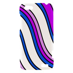 Purple Lines HTC One V Hardshell Case