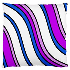 Purple Lines Large Cushion Case (Two Sides)