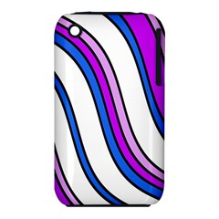Purple Lines Apple iPhone 3G/3GS Hardshell Case (PC+Silicone)
