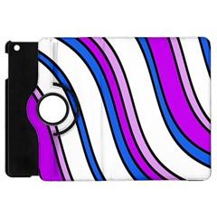 Purple Lines Apple iPad Mini Flip 360 Case