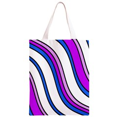 Purple Lines Classic Light Tote Bag