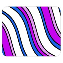 Purple Lines Double Sided Flano Blanket (Small)