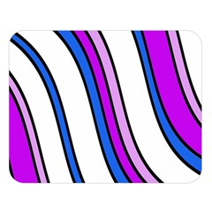 Purple Lines Double Sided Flano Blanket (Large)