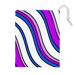 Purple Lines Drawstring Pouches (Extra Large)