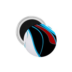 Blue, Red, Black And White Design 1.75  Magnets