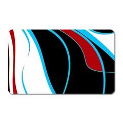 Blue, Red, Black And White Design Magnet (Rectangular)