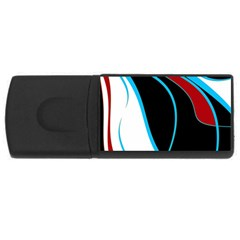 Blue, Red, Black And White Design USB Flash Drive Rectangular (1 GB)