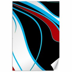 Blue, Red, Black And White Design Canvas 20  x 30