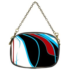 Blue, Red, Black And White Design Chain Purses (Two Sides)