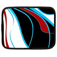 Blue, Red, Black And White Design Netbook Case (XXL)