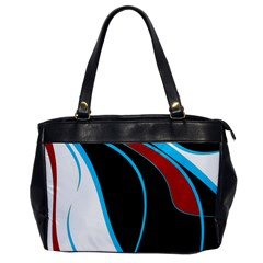 Blue, Red, Black And White Design Office Handbags
