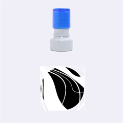 Blue, Red, Black And White Design Rubber Round Stamps (Small)