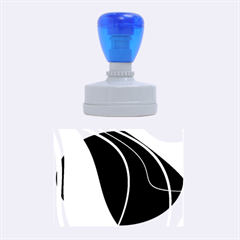 Blue, Red, Black And White Design Rubber Oval Stamps