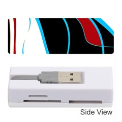Blue, Red, Black And White Design Memory Card Reader (Stick)