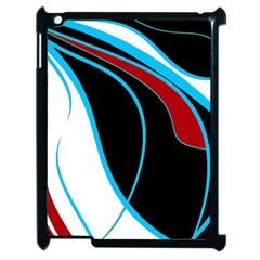 Blue, Red, Black And White Design Apple iPad 2 Case (Black)