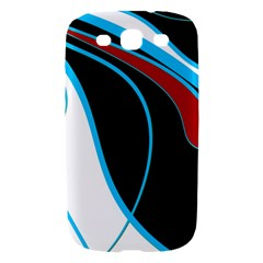 Blue, Red, Black And White Design Samsung Galaxy S III Hardshell Case