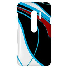 Blue, Red, Black And White Design HTC Evo 3D Hardshell Case