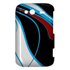 Blue, Red, Black And White Design HTC Wildfire S A510e Hardshell Case