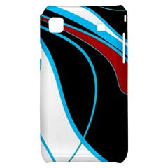 Blue, Red, Black And White Design Samsung Galaxy S i9000 Hardshell Case