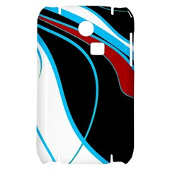 Blue, Red, Black And White Design Samsung S3350 Hardshell Case