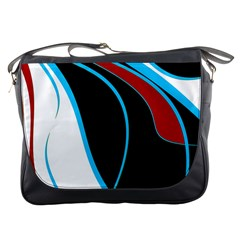Blue, Red, Black And White Design Messenger Bags