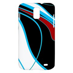Blue, Red, Black And White Design Samsung Galaxy S II Skyrocket Hardshell Case