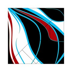 Blue, Red, Black And White Design Acrylic Tangram Puzzle (6  x 6 )