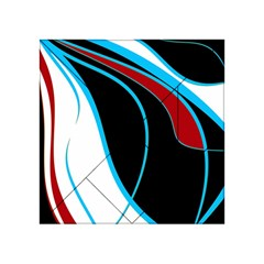 Blue, Red, Black And White Design Acrylic Tangram Puzzle (4  x 4 )