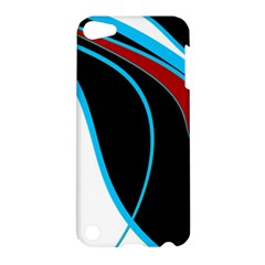 Blue, Red, Black And White Design Apple iPod Touch 5 Hardshell Case