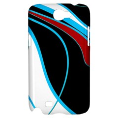Blue, Red, Black And White Design Samsung Galaxy Note 2 Hardshell Case