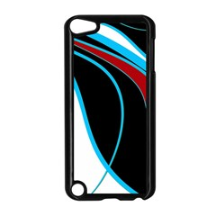 Blue, Red, Black And White Design Apple iPod Touch 5 Case (Black)