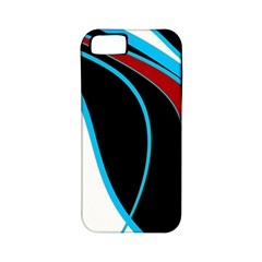 Blue, Red, Black And White Design Apple iPhone 5 Classic Hardshell Case (PC+Silicone)