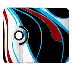 Blue, Red, Black And White Design Samsung Galaxy Note II Flip 360 Case