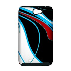 Blue, Red, Black And White Design Samsung Galaxy Note 2 Hardshell Case (PC+Silicone)