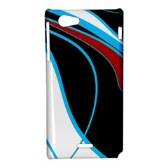 Blue, Red, Black And White Design Sony Xperia J